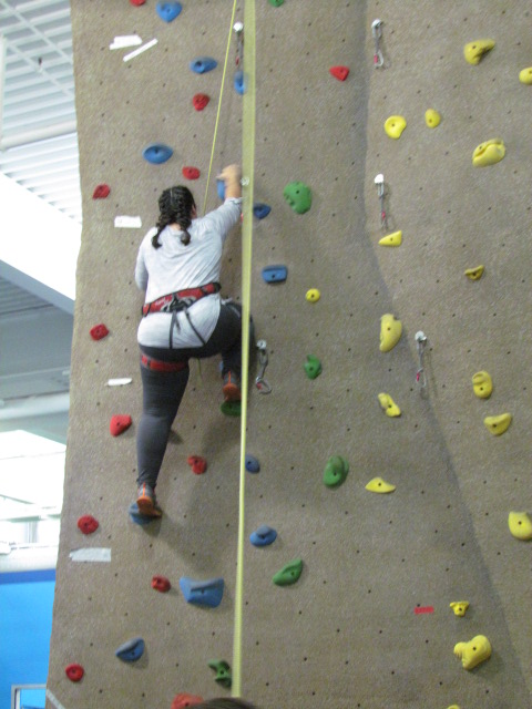 Jessie making her way up the wall - AFC Veterinary Challenge 2015 – Manchester Vet Clinic - CT