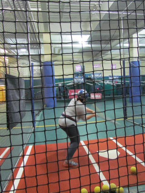 Good showing from Jessie at the Batting Cages - ACF Veterinary Challenge 2015